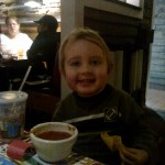 Jack at Chili's to celebrate